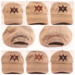 war machine llc baseball caps, embroidered covers, kahki, earth, with logo