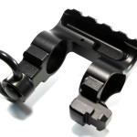 WarBlock AR15 receiver level same plane railed gas block with bayonet lug and QD sling swivel socket and rotation limiter